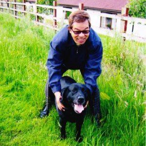名犬 ウォルポと記念撮影